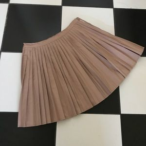 Tinley Road Leather Pleated Mini Skirt